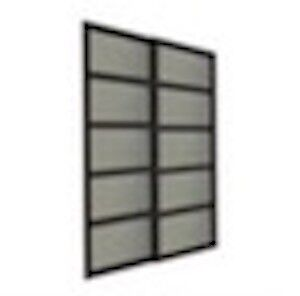"Bali 52""x 80 5/8"" 2 panel Frosted Glass Sliding Closet Door"