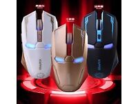 Wireless Ironman mouse(eyes light up)
