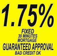 Private Lender offering Lowest Rates Mortgage Guaranteed