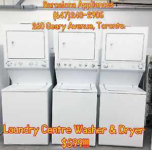 STACKABLE WASHER DRYER LAUNDRY CENTRE 1 YEAR WARRANTY