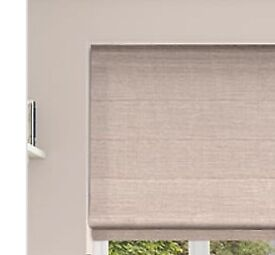 Brand new Roman blind in blush pink with blackout lining.