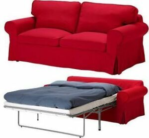 RED IKEA PULL OUT SOFA