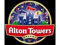 2 ALTON TOWERS TICKERS FOR SALE - To be used before 21/10/16