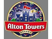 2 X ALTON TOWERS TICKETS FOR THE 1ST OF OCTOBER ONLY 2016 CHEAP MUST SEE £37 OR NEAREST OFFER