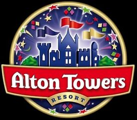 Alton Towers tickets x 2 for 17th July SUMMER HOLIDAYS