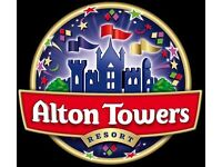 Alton Towers x 2 Tickets For Monday 28th August 2017 (Bank Holiday Monday)