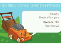 H&H fencing and garden services