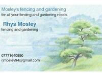 Mosley's fencing and gardening service