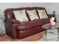 3+2 leather recliner sofas.