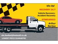 We offer a genuine 24 hour, 7 days a week breakdown recovery operation
