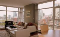 SEPT 2014! NEW Furnished LARGE 1 BR 750 sq+Den+Balcony #1506