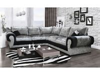 New Scs velvet couch with FREE FOOTSTOOL