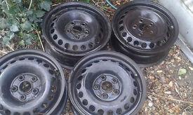 Volkswagen transporter 16 inch steel wheels set of four £15