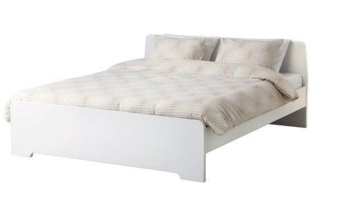 Ikea Double Bed Frame White In Very Good Condition