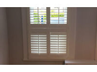White Wood Shutters tier on tier style