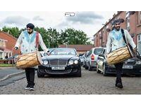 DHOL PLAYERS IN MANCHESTER, ASIAN DJ BRAS BAND BAJA WEDDING DRUMMER & BHANGRA DANCERS GRAND ENTRANCE