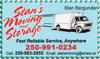 Now Booking Local /Long Distance Moves - Stans Moving (Quesnel)