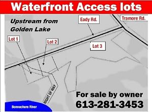 Waterfront access lots near Golden Lake on Bonnechere River