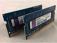 4gb Kingston(2x 2GB) PC3-10600S Memory 204-Pin SoDimm DDR3