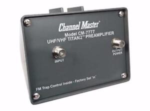 CHANNEL MASTER AMPLIFIER CM 7777 / CM 7778 / CM HD 7777 / CM 3418 / CM 3414 / CM 3412/ CM 3410 / CM 4221 / CM 4228