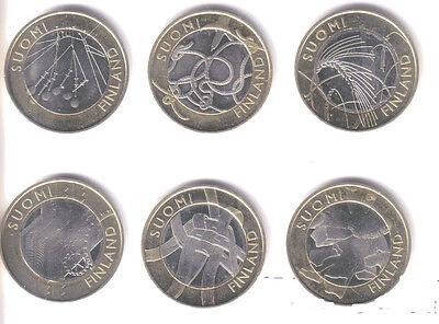 FINLAND 2010-2011 - 9 x 5 euro van de Finse Provincies!!!