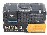 Kitsound Hive 2 Bluetooth Wireless Portable Stereo Speaker Smartphone Compact (new sealed)