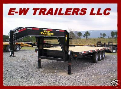 2018 3 AXLE GOOSENECK EQUIPMENT TRAILER-20' PLUS 5' HD