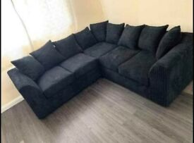 Brand new corner sofas black grey mink silver