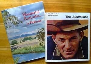 THE AUSTRALIANS AND WONDERFUL AUSTRALIA IN PICTURES 2 GREAT BOOKS Largs Bay Port Adelaide Area Preview