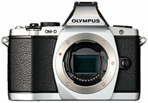 Silver Olympus em5 in decent shape, comes with LB-EM5 grip