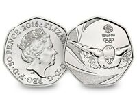 Rare 50p Olympic Swimming Coin