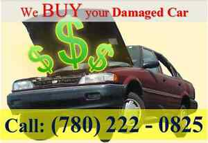 Sell your damaged car buyer scrap car removal free tow7802220825 Edmonton Edmonton Area image 2