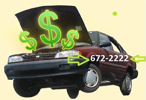 PAYING $$$$$ for unwanted AUTOS CARS 672-2222