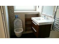 Professional bathroom fitting. Plumbing, tiling,plastering
