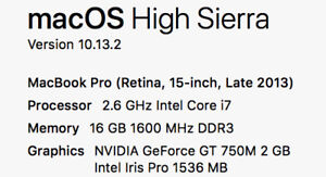 Macbook Pro Retina 15 Maxed W/Dual Graphics