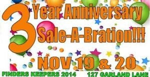 3 Year SALE-A-BRATION!   NOV 19 & NOV 20
