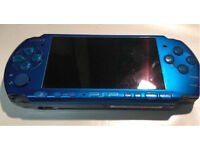 Sony PSP slim 3003 3000 Blue (PlayStation Portable) **Trusted UK Seller**