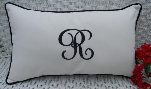 Monogrammed Outdoor Pillows Ebay