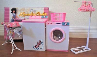 GLORIA DOLLHOUSE FURNITURE LAUNDRY CENTER W/ WASHER & DRYER Play set FOR BARBIE