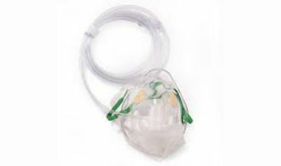 Non-Rebreathing O2 Mask Adult w/ Safety Vent 7' (Non Rebreathing Mask)