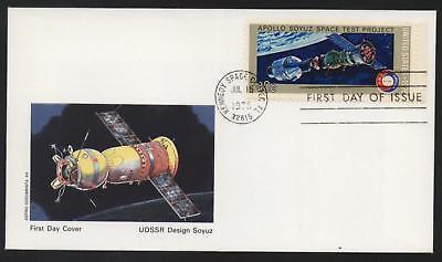 Ersttagsbrief First Day Cover Astro Documenta 44 Apollo Soyus Space 1975 USA