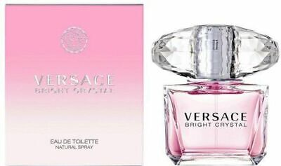VERSACE Bright Crystal 200ml EDT Women's Perfume New Boxed Sealed FAST P&P H1F