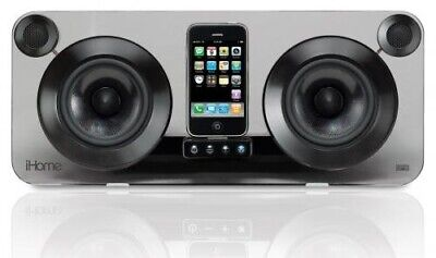 iHome IP1E High Fidelity Speaker System for iPhone & iPod (No Remote) - Black