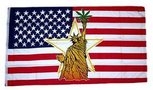 Flagge / Fahne USA Freiheitsstatue Hanf Hissflagge 90 x 150 cm