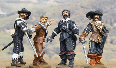 """- NEU - Figurenset """"Die vier Musketiere"""", 28mm"""