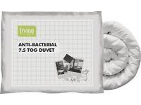 HOME Anti-bacterial 7.5 Tog Duvet - Single