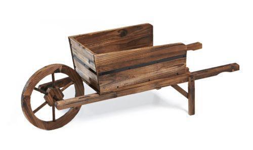 Wood Wheelbarrow Ebay