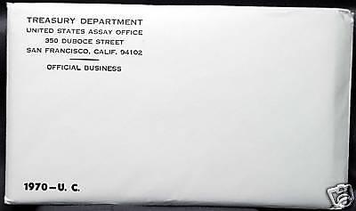1970 U.S. MINT SET. ISSUED BY US MINT. Envelope Sealed / Unopened