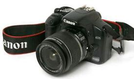 Canon EOS 450d DSLR camera including bag and accessories plus SD card