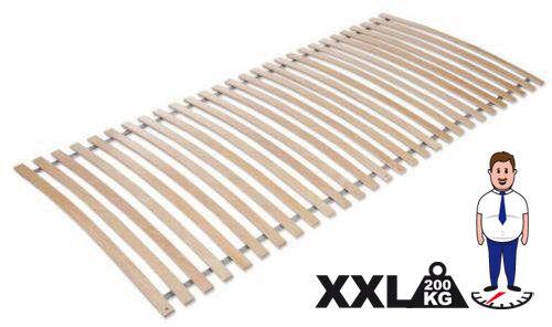 Lattenrost, Rollrost, rahmenlos 90x200cm, 28 Latten,Birke TOP Qualität - XXL